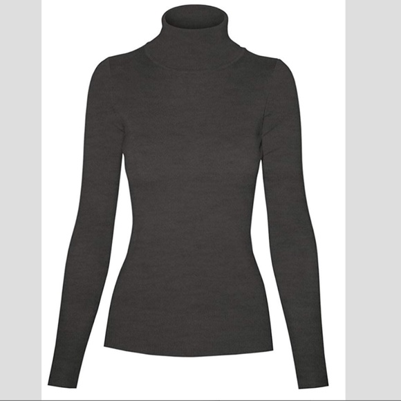 Cielo Tops - Charcoal Grey Cielo Turtleneck Medium